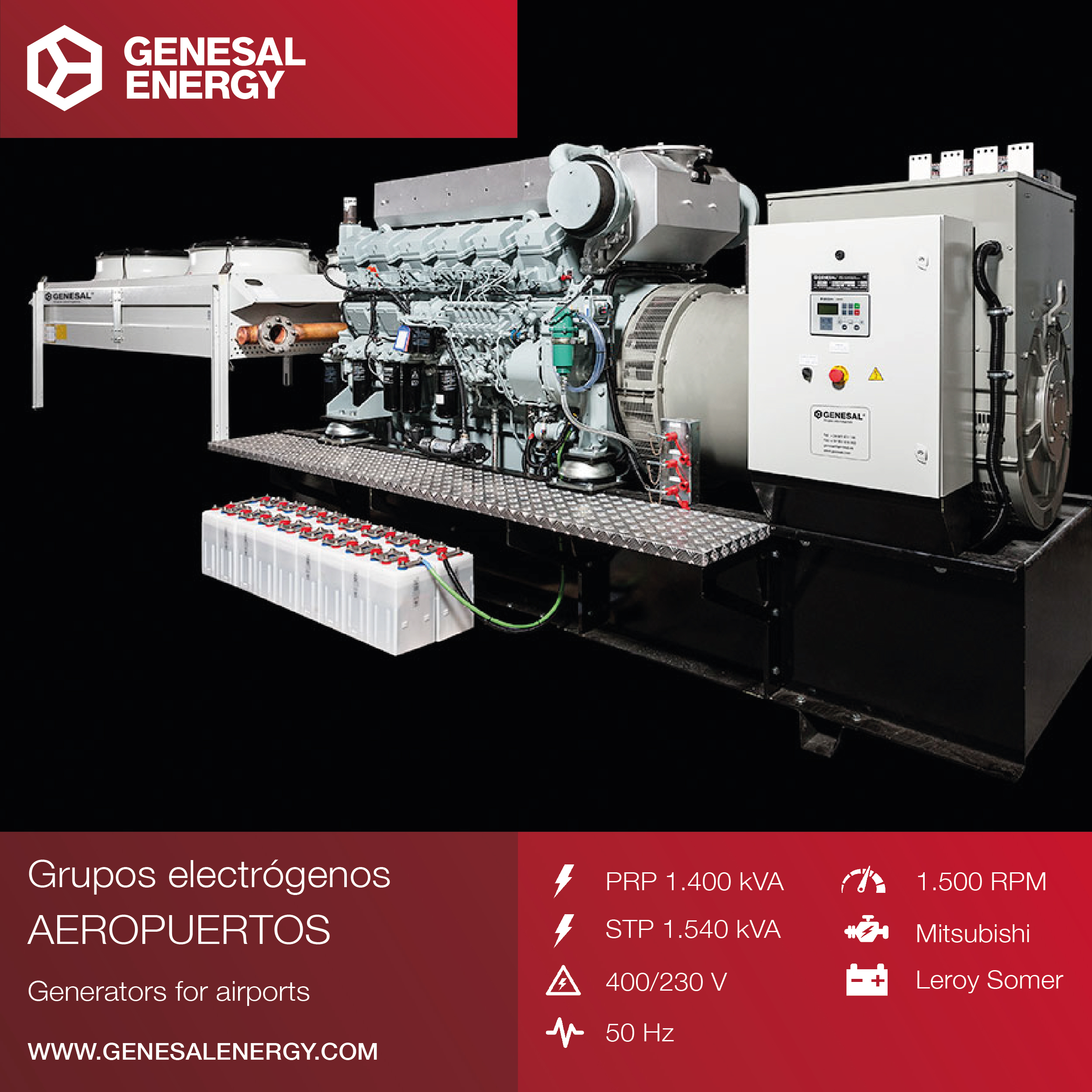 Supply and installation of an adapted genset for the airport of La Coruna in Northwest Spain