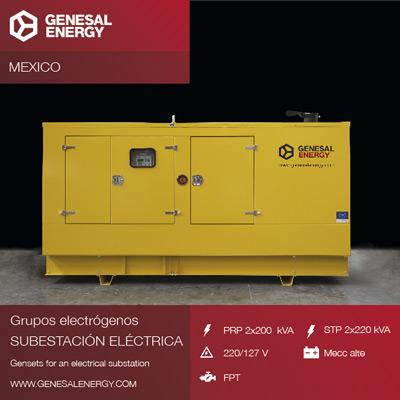 A wind farm in Baja California, key in Genesal's efforts towards clean energy