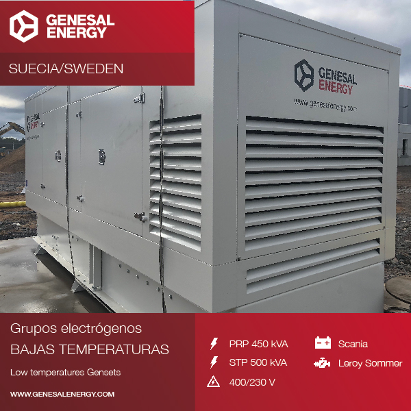 We designed a generator set for one of multinational company DSV's centres in Sweden, prepared to operate in the extreme cold