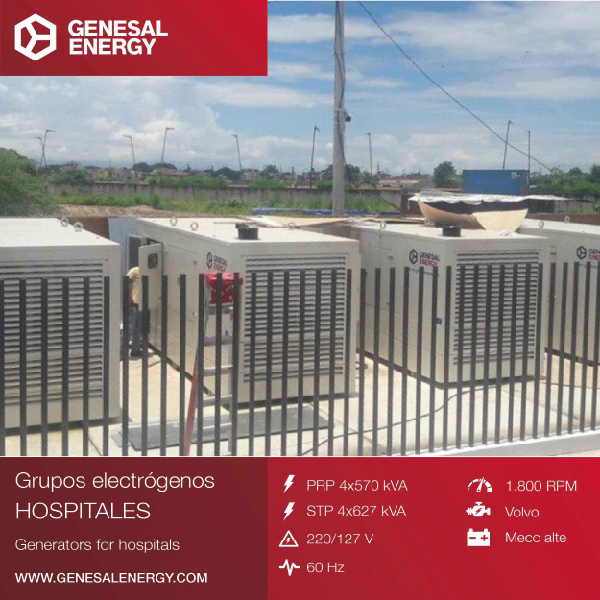 Emergency back up power for the Machala General Hospital (Ecuador), a healthcare facility with 36 specialities and a catchment area of 350,000 people