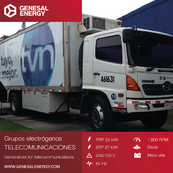 Genesal Energy continues to consolidate its standing in central America with a specially designed genset for Panamanian television.