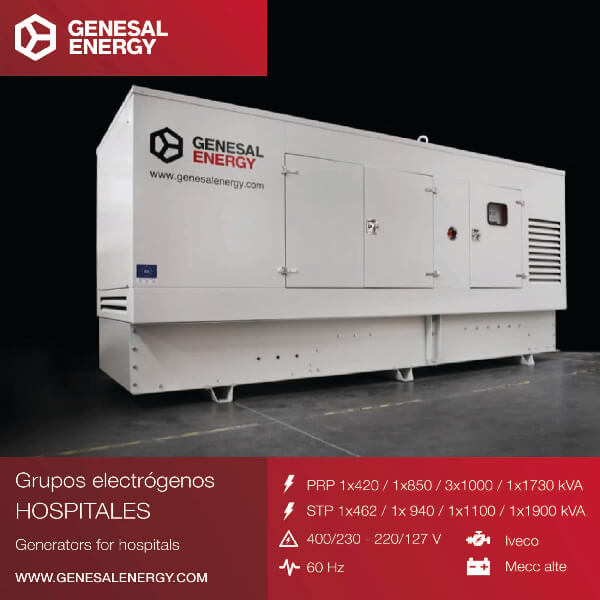We installed generator sets in the Quito Sur Hospital in Ecuador