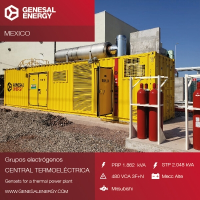 Genesal emergency power for Topolobampo III, the combined-cycle power plant which will provide electricity to 2,5 million Mexican citizens