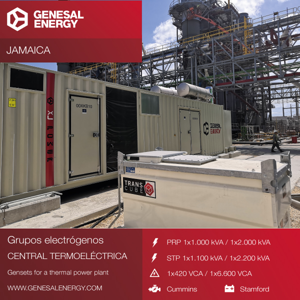 "We supplied two ""turnkey"" generator sets to the biggest combined-cycle power plant in Jamaica"
