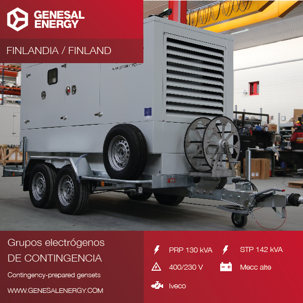 We designed a mobile genset adapted to the needs of our client, to start up at low temperatures in Finland