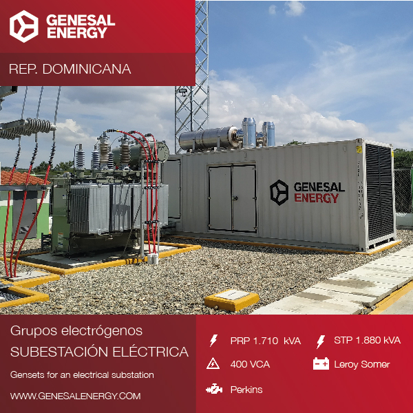 We designed an 'anti-hurricane' generator set for a great wind farm in the Dominican Republic