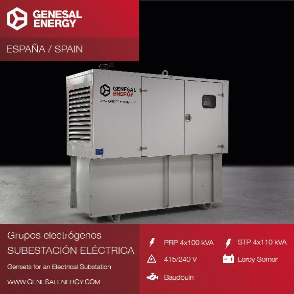Special generator sets for substations in Zaragoza