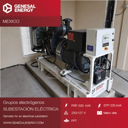 Toyota chooses a Genesal emergency genset for its factory in Guanajato (Mexico)