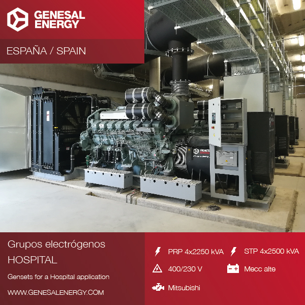 We supplied four generator sets to the Hospital of Toledo