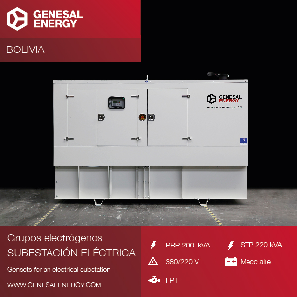 We supplied an emergency genset with an aseismatic system for the Carrasco electrical substation (Bolivia)