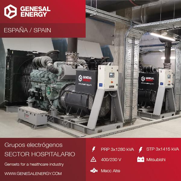 Grupos electrógenos para la clínica Universidad de Navarra