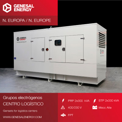 Generator set for logistics center in north Europe