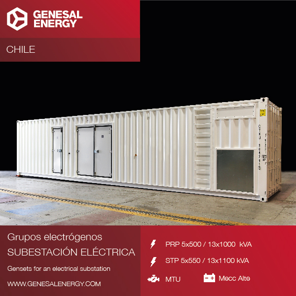 We've supplied 18 new super-soundproofed generator sets to the Chilean market