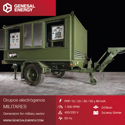 Gensets designed to supply power for military telecommunications