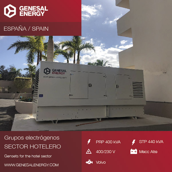 Supply of a generator set in the hotel sector