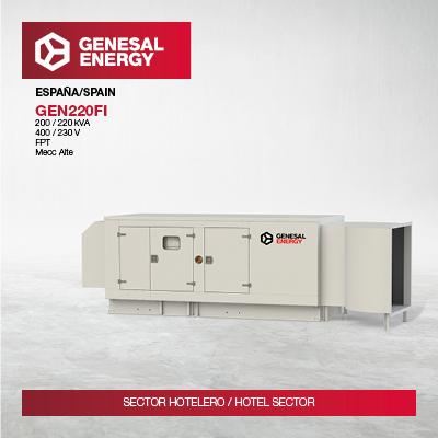 Galicia's first Hilton hotel trusts in Genesal Energy emergency power