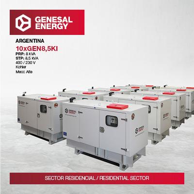We supplied emergency generator sets to ten rural schools in Argentina