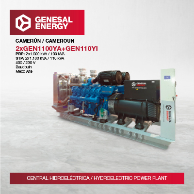 We have increased our presence in Africa with the supply of three generator sets to the largest hydroelectric power plant in Cameroon