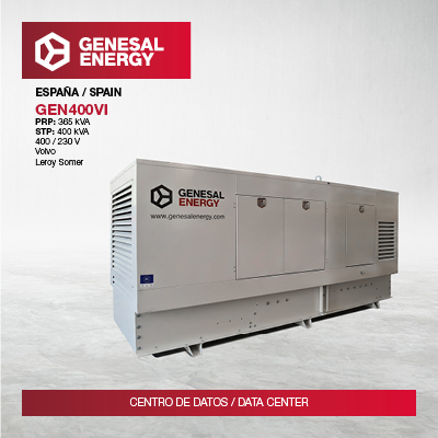 Genesal energy for a data centre. Always at the forefront of critical centres' protection.