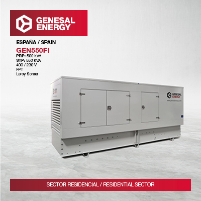 We supplied a generator set to a senior centre in Madrid.