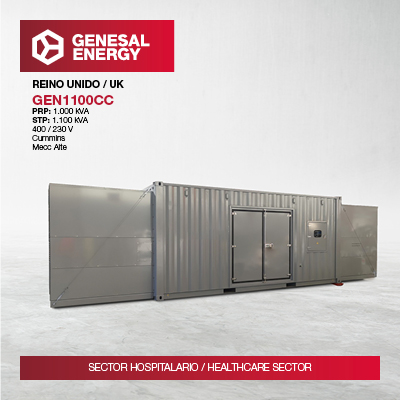 Genesal Energy guarantees emergency power to one of the UK's major hospitals.