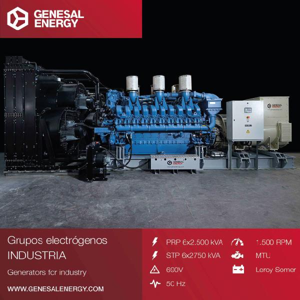 Planta de Energía de 15000 Kva de operación continua