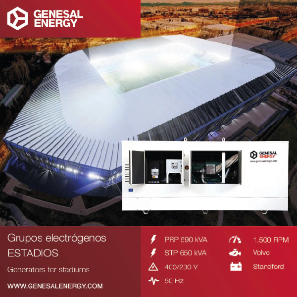 Deportivo Alaves stadium illuminated by Genesal Energy