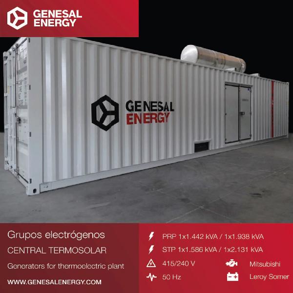 Grupos electrógenos para una planta de energía solar en Sudáfrica que suministrará electricidad a 150.000 hogares