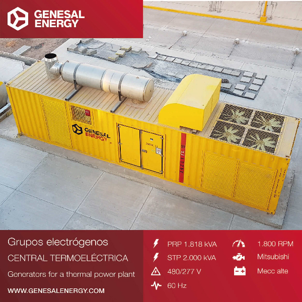 Genesal Energy has supplied an emergency genset for the combined cycle power plant (CCPP) known as Empalme II, a huge engineering project in the Sonora State of Mexico.