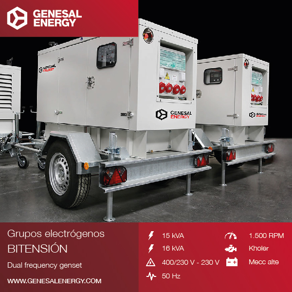 Supply of seven mobile soundproof gensets with a remote communication system