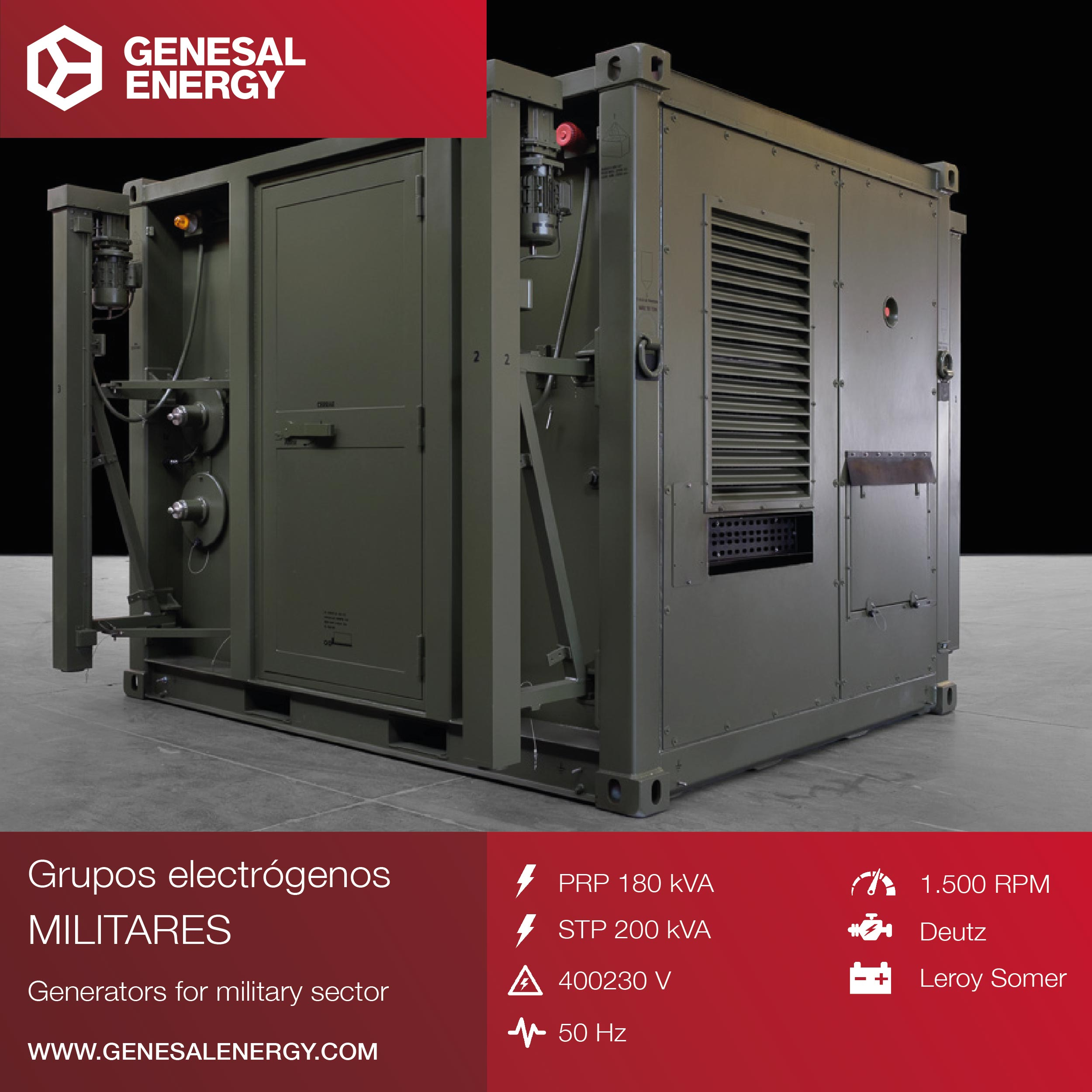 Genesal Energy supplies a fully operational Containerized Power Supply for a Mobile 3D Radar System