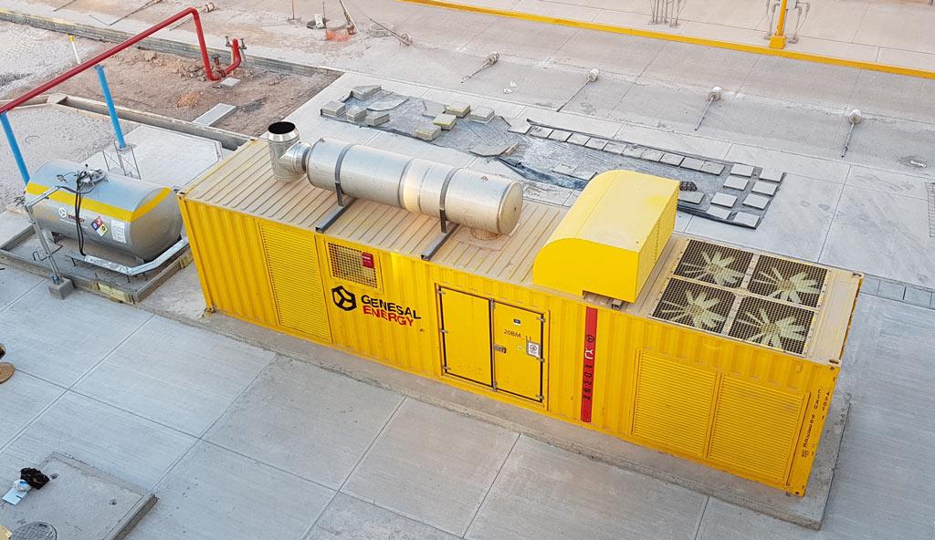 Grupo black start de 2.000 kVA instalado en la central de ciclo combinado Empalme II