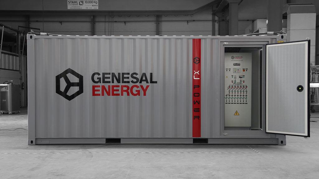 Grupo electrógeno Genesal en la central nuclear de Almaraz (Cáceres)