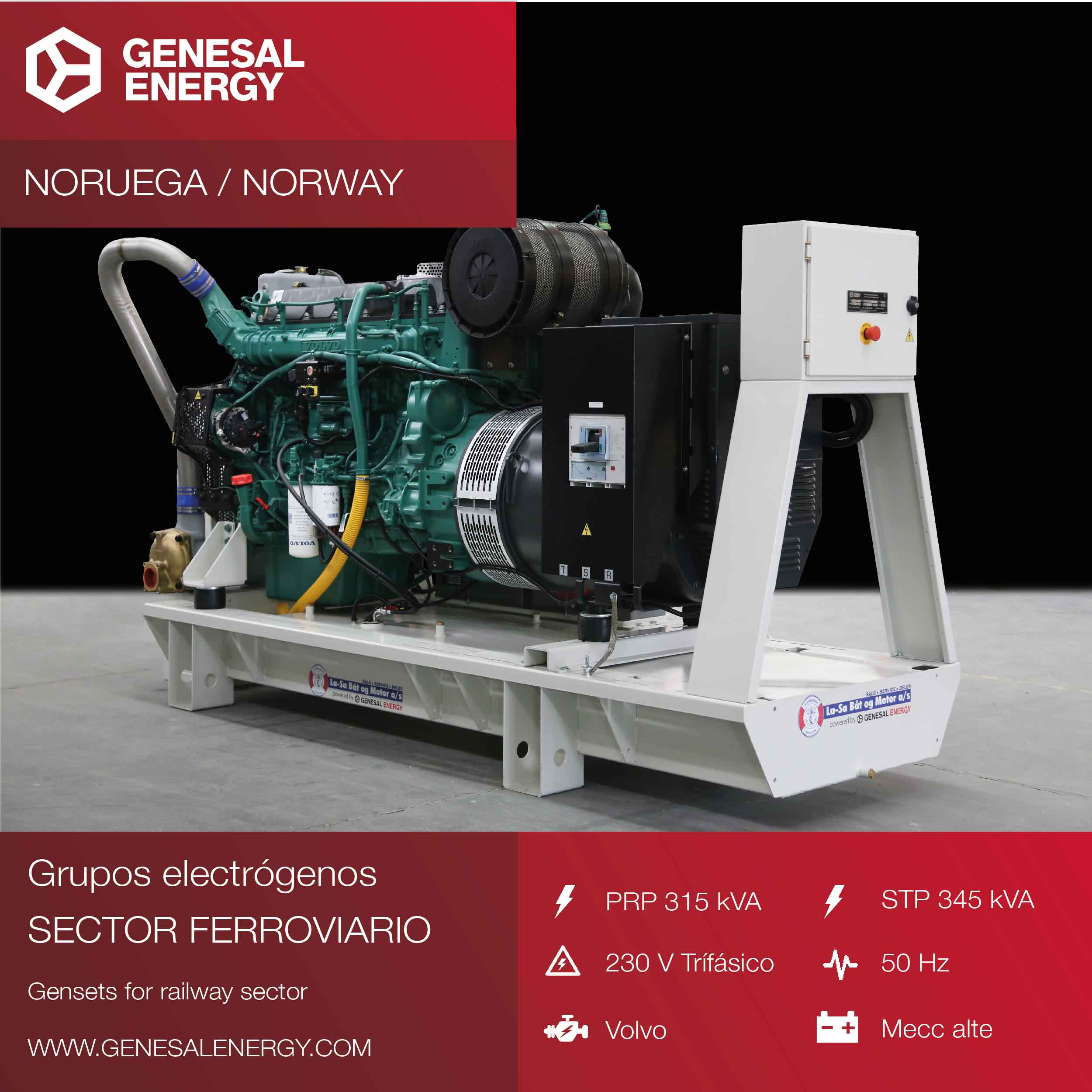 Emergency gensets for the railway sector