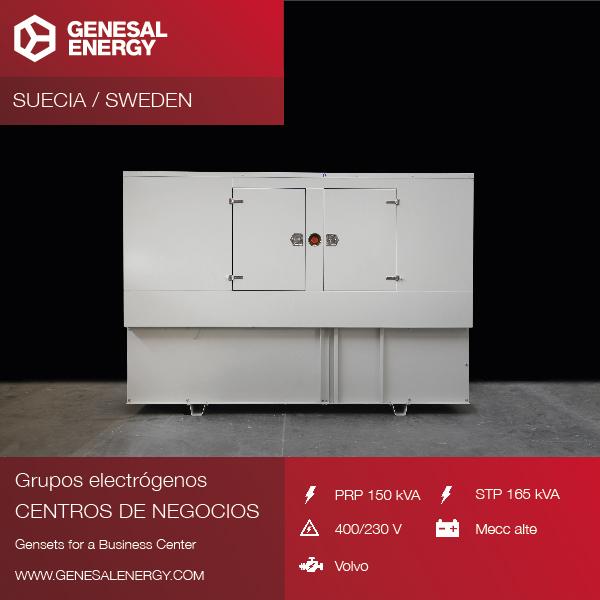 Grupo electrógeno especial para un business center en Suecia