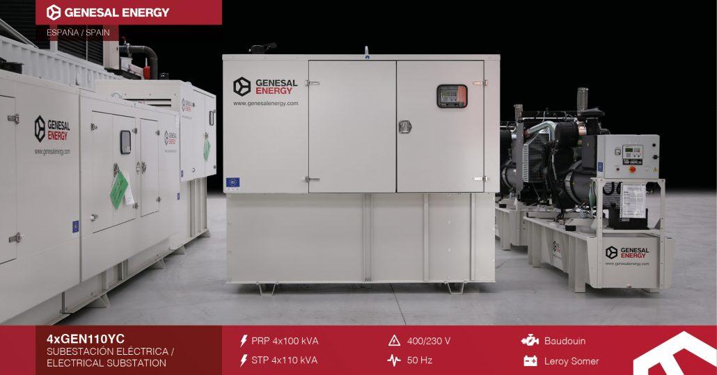 Subestaciones eléctricas de Zaragoza cuentan ahora con grupos electrógenos especiales Genesal Energy