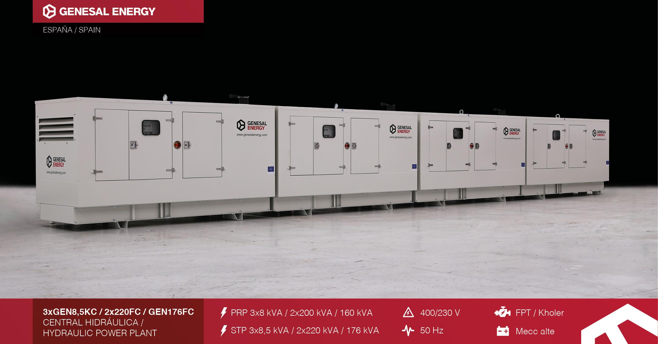Suministramos energía de emergencia gracias a que hemos diseñado e instalado grupos electrógenos en la cuenca hidrográfica del Miño-Sil.
