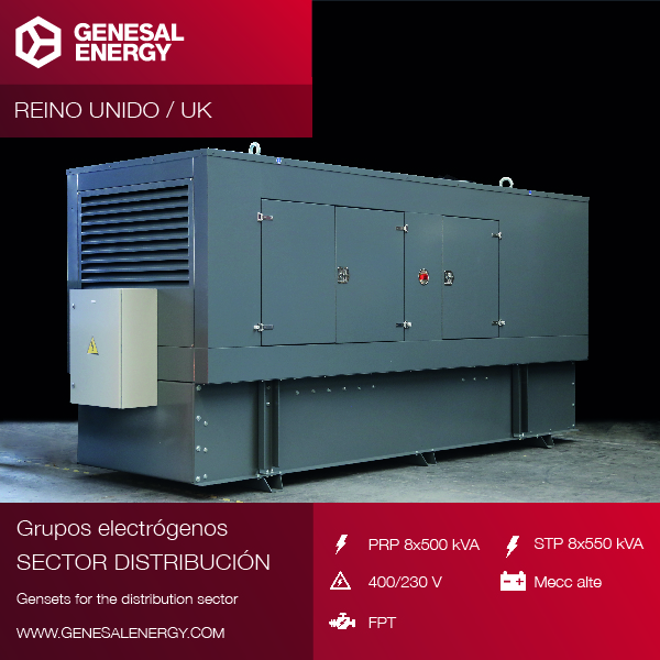 Eight special generator sets for a British distribution centre