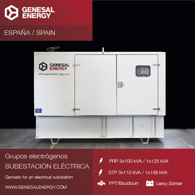 Suministramos energía de emergencia a través de grupos electrógenos silenciosos para parques eólicos