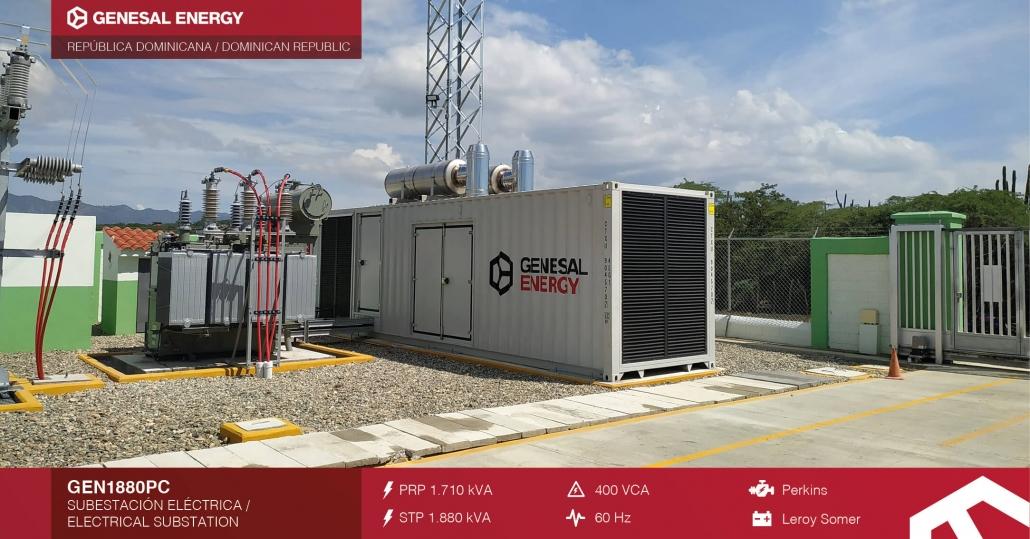 Grupo electrógeno para parque eólico de República Dominicana