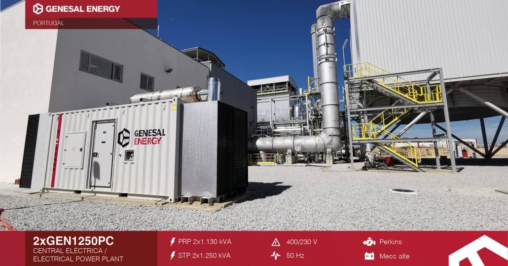 grupo electrógeno para central eléctrica de biomasa en Portugal