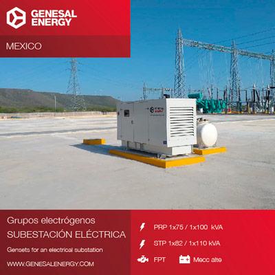 Suministro de dos grupos electrógenos al parque eólico Tres Mesas en México