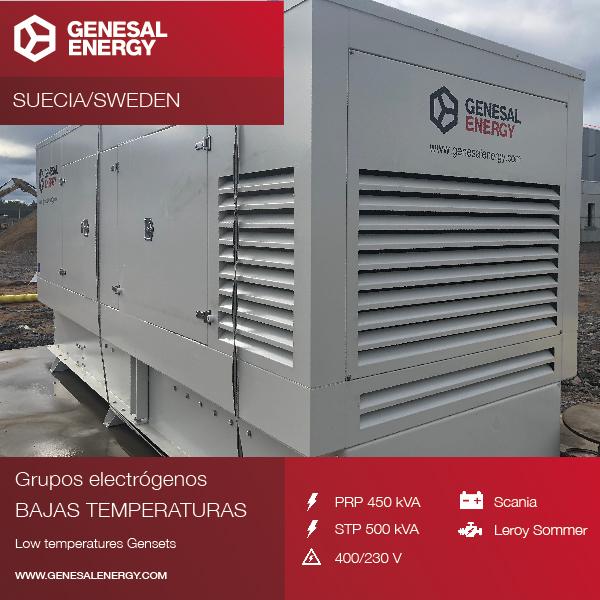 Diseñamos para la multinacional DSV un grupo electrógeno para uno de sus centros en Suecia, preparado para funcionar con frío extremo