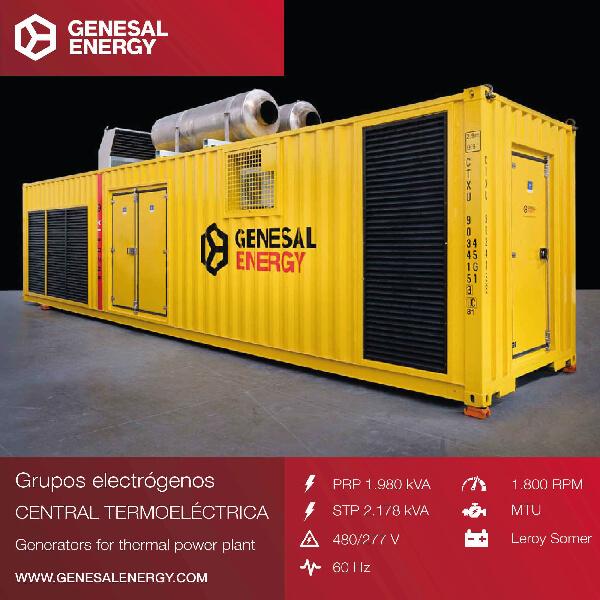 Grupo electrógeno especial para la central de ciclo combinado Valle de México II