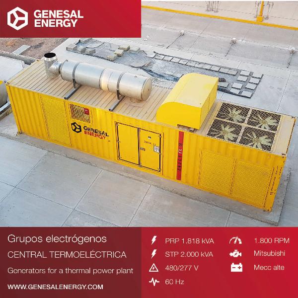 Suministramos un grupo de emergencia para la central de ciclo combinado Empalme II, la gran obra de ingeniería del estado de Sonora, México