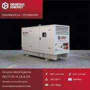 Grupo electrógeno de alquiler para distribuidor en Dinamarca