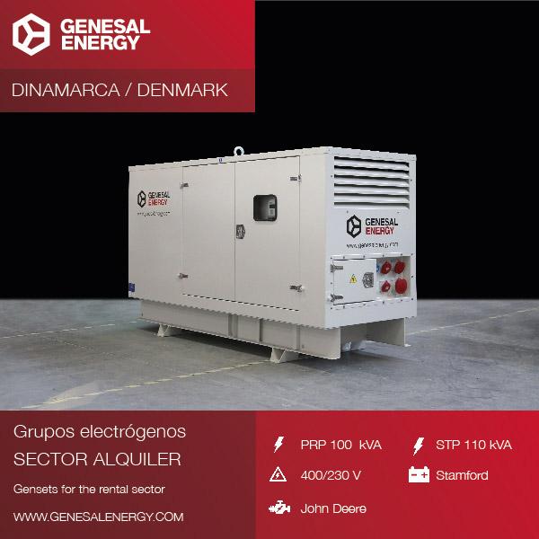 Hemos suministrado un grupo electrógeno para la flota de alquiler de nuestro distribuidor en Dinamarca.