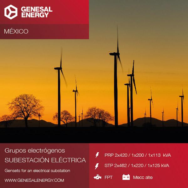 Energías renovables - Grupos electrógenos para parques eólicos en México