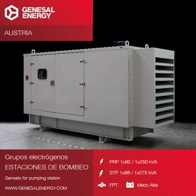 Grupos electrógenos para estación de bombeo en Austria