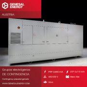 Grupos electrógenos personalizados de contingencia para el mercado austríaco